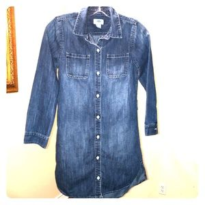 Old navy long denim shirt